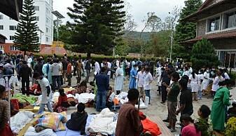 Nesten 2000 personer ble behandlet ved Dhulikel Hospital etter å ha blitt rammet av jordskjelvet.(Foto: Dhulikel Hospital)