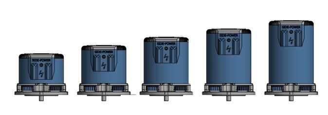 Motoren består av moduler som produsenten kan skalere for små og store båter. (Illustrasjon: Sleipner Motor)