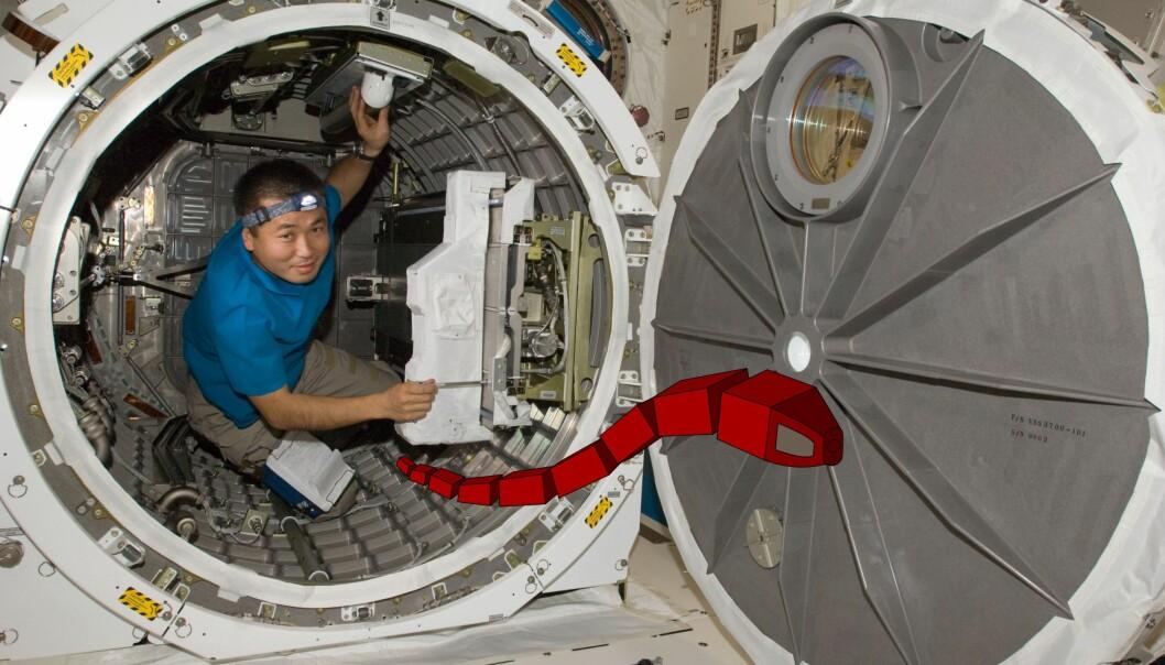 Slangerobot skal hjelpe astronauter