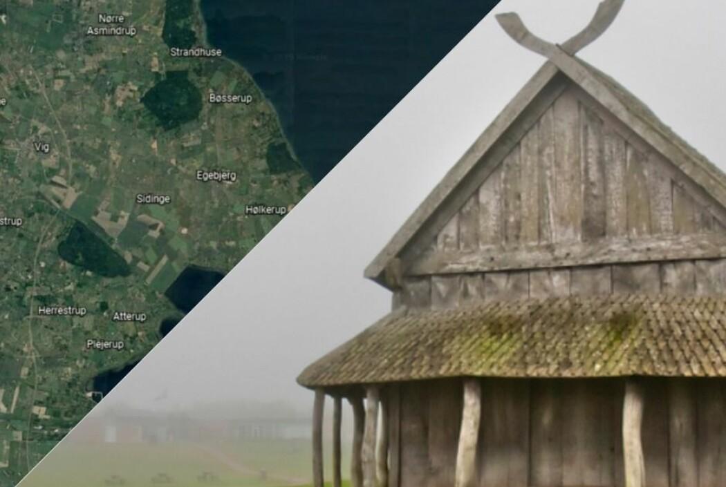 Mange amatørarkeologer har allerede innledet jakten på vikinghus og middelalderbygninger. (Foto: Google Earth/Shutterstock)