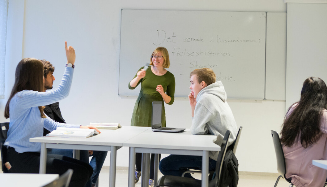 En undersøkelse viser at ungdomsskolelærere ønsker å lære mer om hvordan de kan håndtere kritiske debatter om religion. (Illustrasjonsfoto: Thomas Brun, NTB scanpix)
