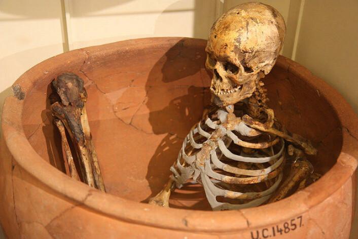 En annen variant av en krukke-begravelse. Denne er flere tusen år gammel og kommer fra Afrika. (Foto: Dark Dwarf/CC BY ND 2.0)