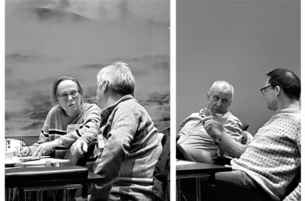 Livlig diskusjon på arbeidsmøte med interessenter i Hammerfest (Foto: Privat).