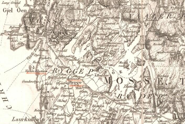 På jakt etter Larkollen Camping? Se etter Laurkullen nede til vanstre. Klikk på bildet for større versjon. (Foto: (Kart: Kartverket))