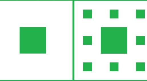 Sierpinski-teppet: Uendelig stort, men uten innhold