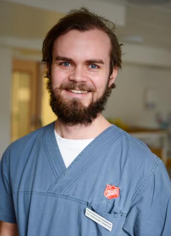 Sjur Hallingstad Torgersen har hatt praksis i åtte uker på Gatehospitalet. Han går tredje året på fysioterapiutdanningen ved HiOA. (Foto: Sonja Balci/ HiOA)