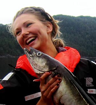 Beste fisken er daud som ei sild – eller her, som ein sei. Foto: Privat