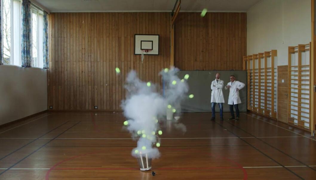 Luke 18: Her får tennisballene fart på seg