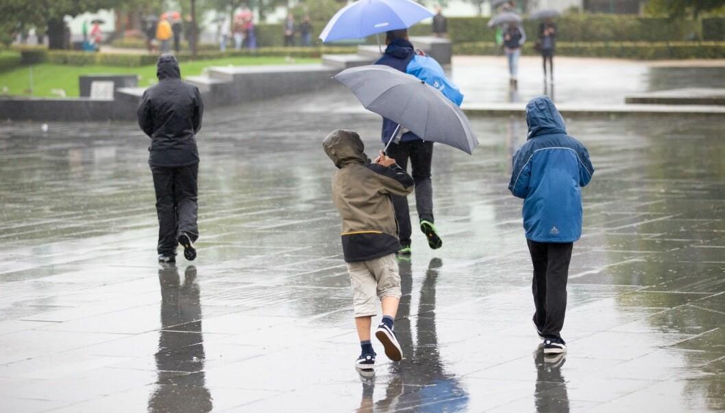 Vestlendingene kan vente seg regn den neste uken.  (Foto: Emil Breistein / NTB scanpix)