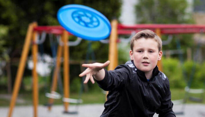 Femteklassing i leik, frå Turid Skredes undersøkjing. (Foto: Skolefoto)