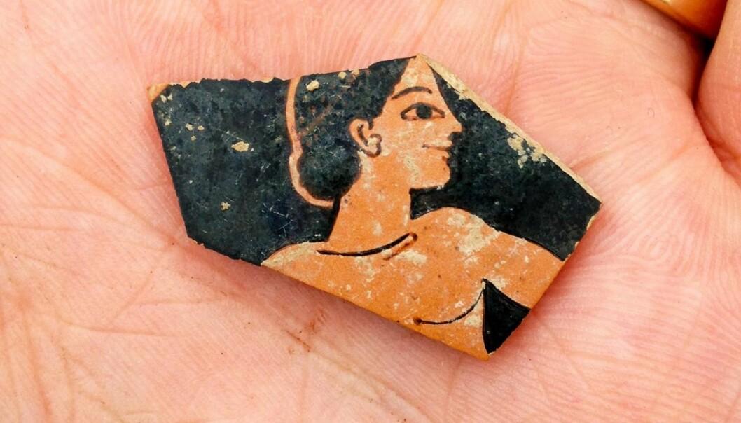 Keramikk fra 500-tallet ble funnet under de arkeologiske undersøkelsene i Hellas. (Foto: SIA/EFAK/YPPOA)