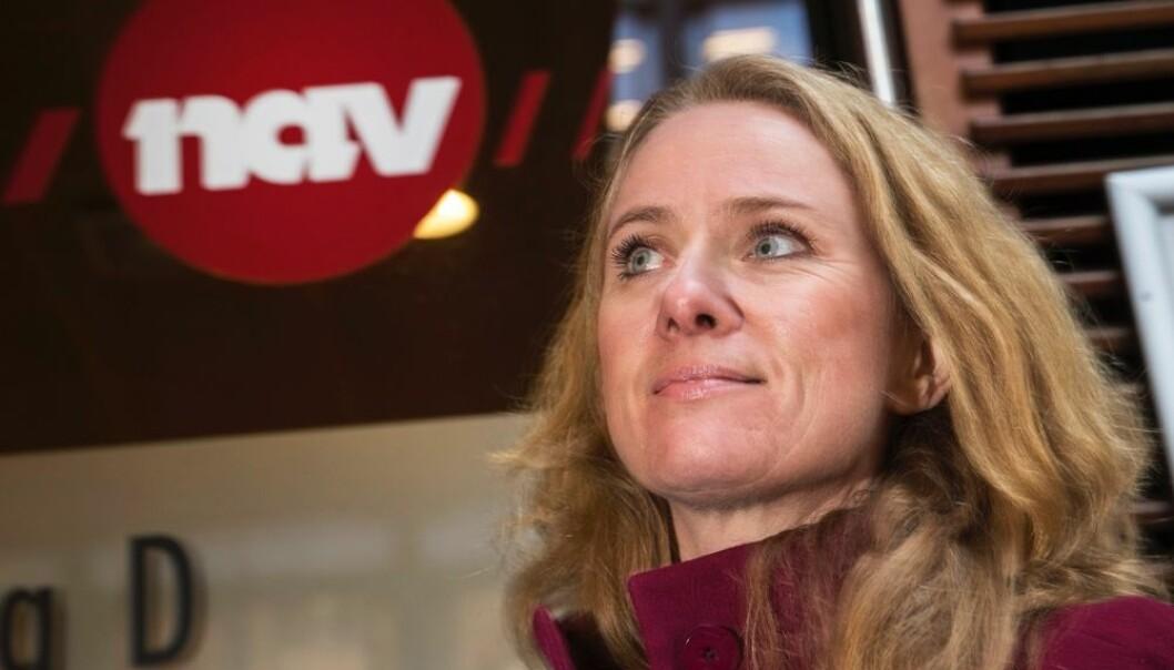 Arbeids- og sosialminister Anniken Hauglie dro til Drammen for å lære hvordan NAV praktiserte aktivitetsplikt for unge på sosialhjelp. Hun ble inspirert. Fra 1. januar må alle norske kommuner gjøre som Drammen, kreve at arbeidsføre ungdommer jobber for pengene.  (Foto: Hallgeir Vågenes, VG/NTB scanpix)