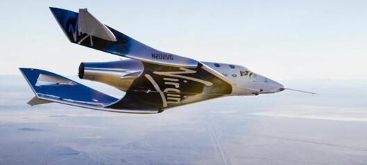 Første glideprøve for Virgin Galactics nye romfly