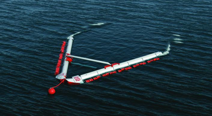 Bølgeanlegg som dette fra Weptos kan forvandle bølgenes energi til elektrisk energi. (Foto: Weptos)