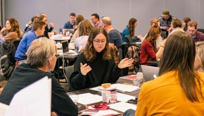 Studenter og lærere fra 13 institusjoner deltok på konferansen Genus 2019 i Kristiansand i forrige uke, der de diskuterte og kom med idéer på hvordan de kan oppnå kjønnsbalanse i høyere musikkutdanning. (Foto: Nico Hagen)