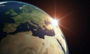 Satelittfoto av Europa og Afrika. (Foto: Norsk Romsenter)