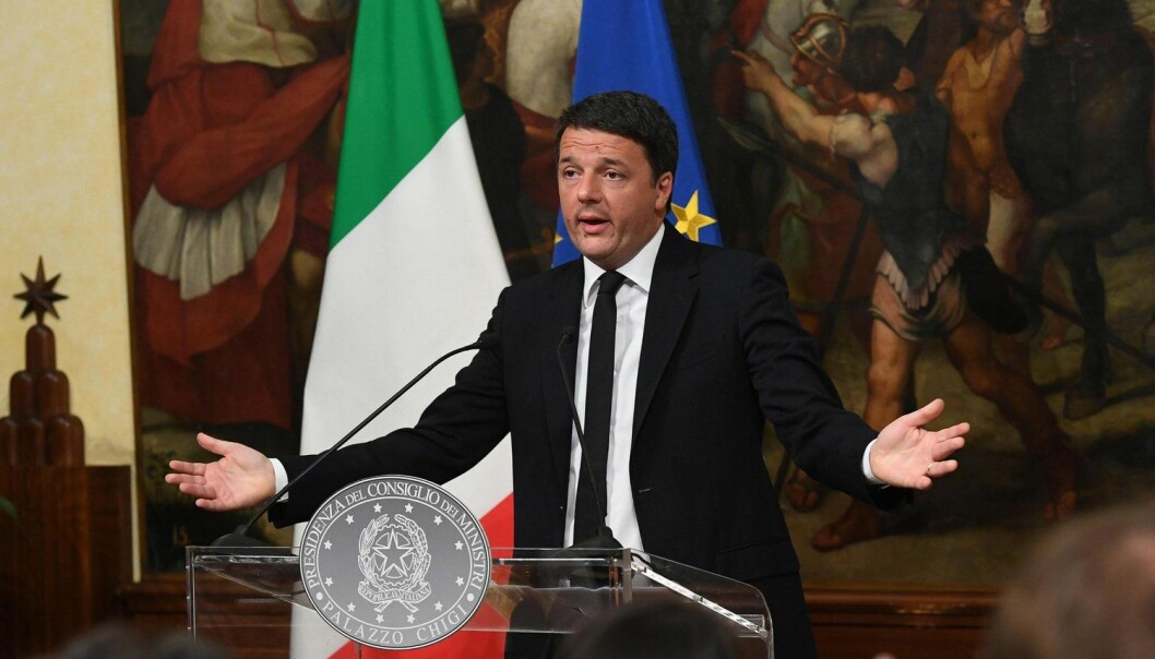 Statsminister Matteo Renzi satset stillingen sin på at italienske velgere skulle si ja i en folkeavstemning for å endre grunnloven. Han tapte. (Foto: Epa, Alessandro Di Meo, NTB scanpix)