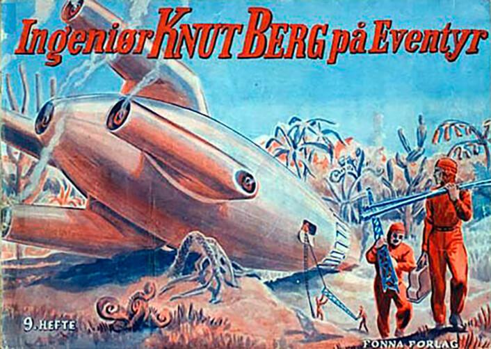 Ingeniør Knut Berg var en norsk tegneseriefigur, på trykk i Nynorsk Vekeblad fra 1941, tegnet av Jostein Øvrelid og fortalt av Hallvard Sandnes. Knut Berg var en av flere ingeniørhelter i tegneserier og science-fictionlitteratur på 1940- og 50-tallet. I denne perioden ble samfunnet bygget med teknologi, teknologi som formet vår velstandsverden. Nå har andre helter overtatt – popstjerner, sportsstjerner og bloggere. Vi er ikke ferdige med å bygge samfunnet. Vi må bygge det om for et grønt skifte. Hvor er ingeniør Knut Berg, realfagshelten og teknologihelten nå når vi trenger ham? Har han havarert på feil klode? (Foto: (Gjengitt med tillatelse fra Fonna Forlag))