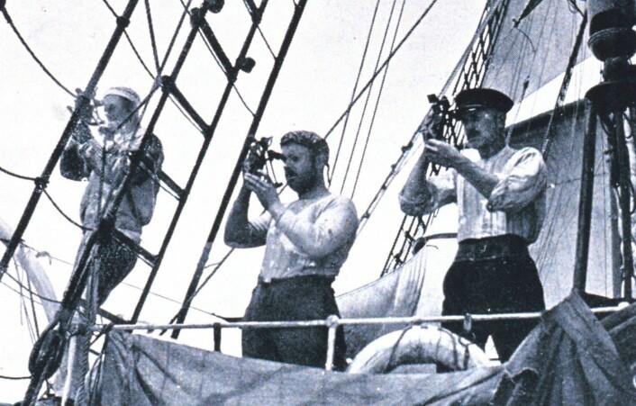 På vei mot ukjent land: Observasjoner fra skuta Fram underveis mot Sydpolen 1910 – 1913. (Foto: Roald Amundsen)