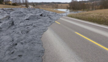 På grunn av et stadig våtere vær, byr flom og jordras på stadig økende utfordringer i Norge. Her ser vi et jordras, erosjon i Hobøl kommune, der forsøk nå er i gang for å få bukt med problemet.  (Foto: Jannes Stolte, NIBIO)