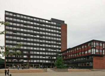 P.A. Munchs hus til høyre på bildet er en av bygningene til Det humanistiske fakultet på Blindern i Oslo. (Foto: Wikimedia Commons)