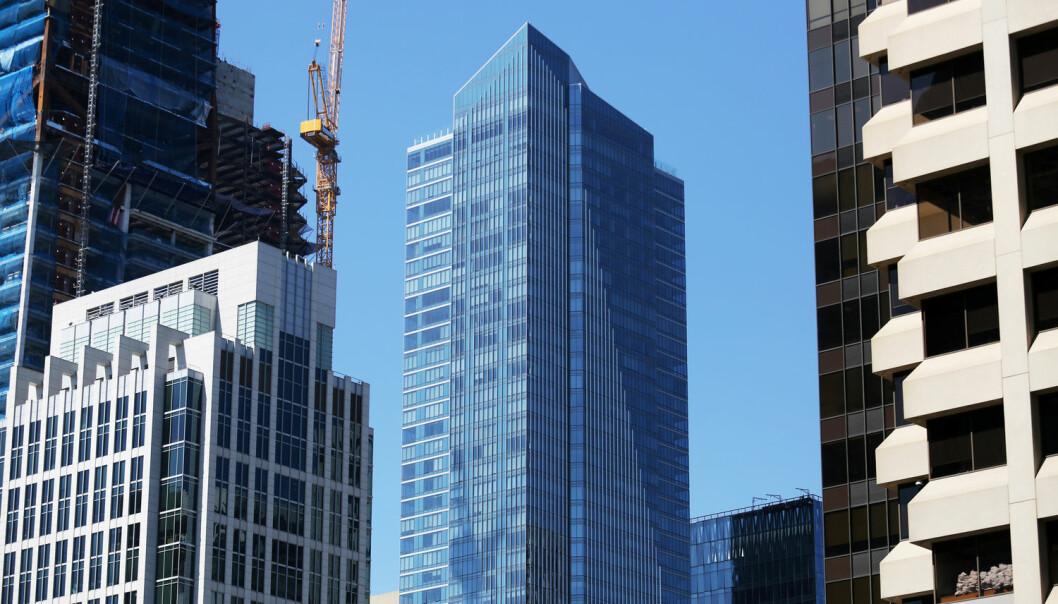 Millennium Tower midt i San Francisco stod ferdig i 2009. Nå er den begynt å synke.  (Foto: Reuters / Beck Diefenbach)