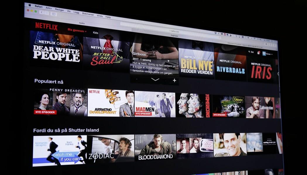 Det var 3300 titler totalt tilgjengelig i norske Netflix da undersøkelsen ble gjort. Av 129 norske filmene som hadde premiere på norske kinoer mellom 2012–2016 var bare 11 tilgjengelige. (Foto: Terje Bendiksby / NTB scanpix)