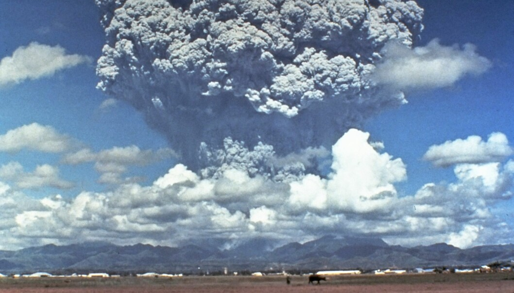 Den filippinske Pinatubovulkanens eksplosive utbrudd i 1991 har inspirert forskere til å vurdere alternative metoder i klimakampen. (Foto: Dave Harlow / USGS / CVO Photo Archives)