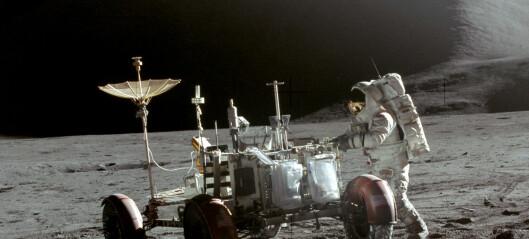 Astronautene la igjen bæsjen sin på månen