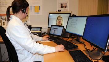 Dialogen med pasientene foregår på nettet. (Foto: Kristiansand kommune)