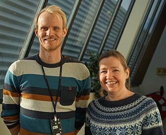 Sigmund Størset og Grethe Tangen er begge forskere ved Sintef. (Foto: Mona Sprenger)