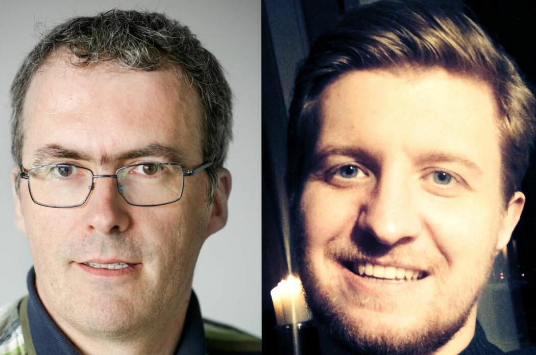 UiB tilsetter to kryptoeksperter, Vincent Rijmen (t.v) og Andrey Bogdanov. (Foto:  Privat)