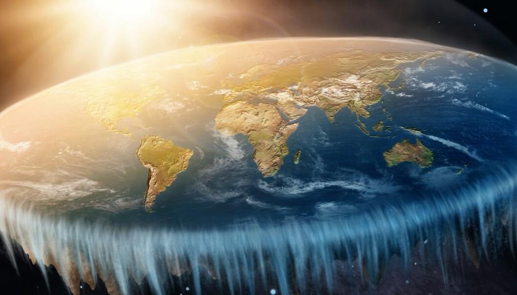 Derfor mener noen at jorda er flat