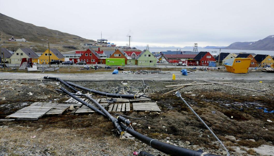 Longyearbyen ligger utsatt til for ras som følge av ekstremvær. (Foto: Håkon Mosvold Larsen / NTB scanpix)