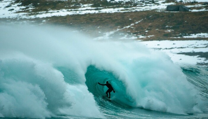 Et hotspot for surfere (Foto: Unstad Arctic Surf)