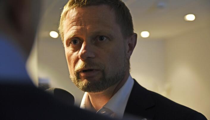 Helse- og omsorgsminister Bent Høie opplevde i fjor at Legeforeningen brøt forhandlingene med staten. (Illustrasjonsfoto: Foto: Rune Stoltz Bertinussen / NTB scanpix)
