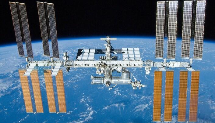 Hele romstasjonen. Den skal være i drift fram til 2030. (Bilde: NASA)