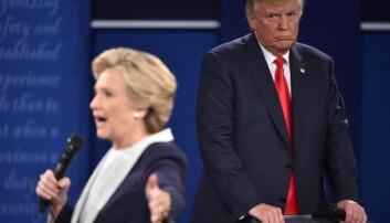 De fleste meningsmålingene mente at Hillary Clinton skulle gå av med seieren i valget i USA. Det skjedde ikke.  (Foto: Paul J. Richards / AFP / NTB scanpix)