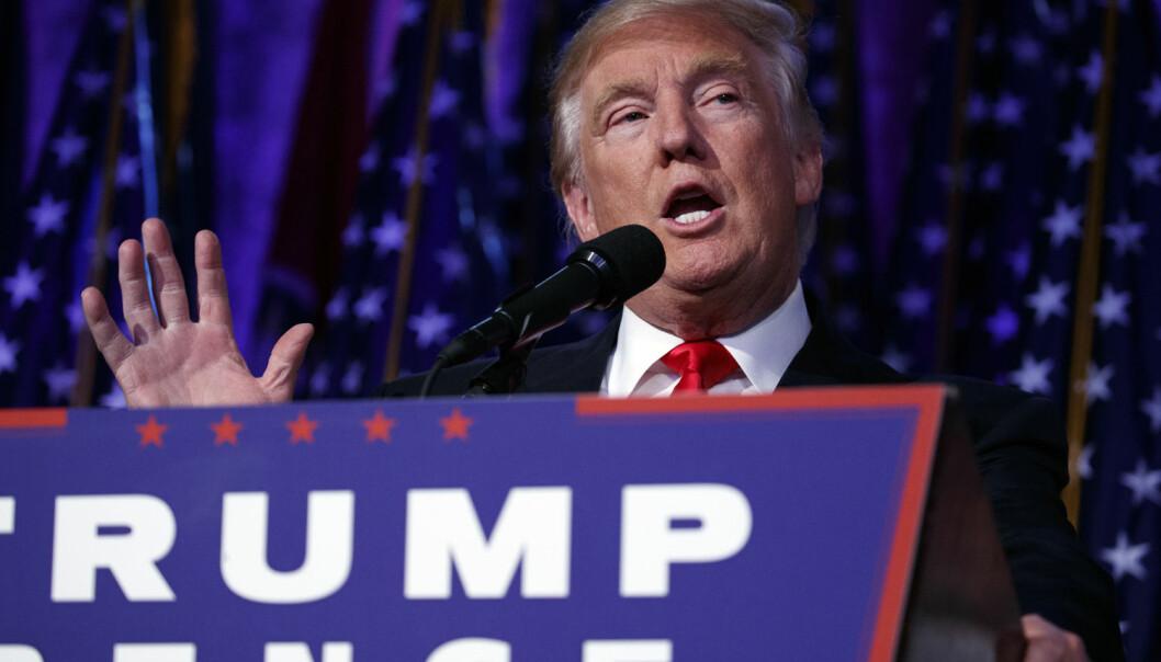 Ifølge valgdagsmålingen var det færre unge som stemte enn forventet, noe som kan ha gagnet Trump. (Foto: AP Photo, Evan Vucci, NTB scanpix)
