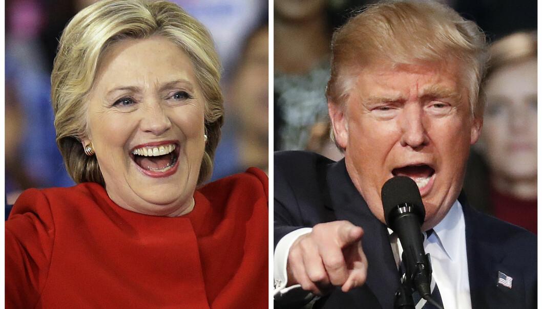Mens Hillary Clinton i slutten av oktober hadde samlet inn over en milliard dollar til sin presidenvalgkamp hadde Trump bare litt over halvparten. (Foto: AP Photo/Gerry Broome, Paul Sancya, NTB scanpix)