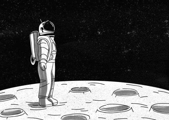 Den mest positive psykologiske effekten er at de setter mer pris på jorden, viser Jack Stusters studier av dagbøkene til astronauter på ISS. (Illustrasjon: GoodStudio / Shutterstock / NTB scanpix)