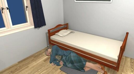 Dataspillet om eldre som faller ut av sengen