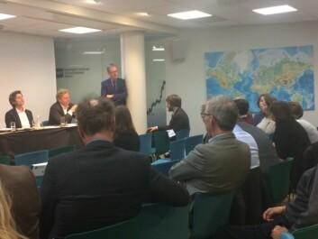 Det var stinn brakke tidligere i uken da NUPI la frem rapporten om mulige følger for Norge av handelsavtalen TTIP som USA og EU planlegger å inngå. (Foto: Anne Lise Stranden/forskning.no)
