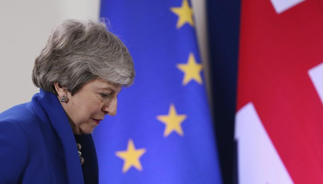 Storbritannias statsminister Theresa May har fått bedre tid på seg til å skape tverrpolitisk enighet om brexit, men det er fortsatt høyst uvisst når Storbritannia forlater unionen. (Foto: Francisco Seco, AP, NTB scanpix)