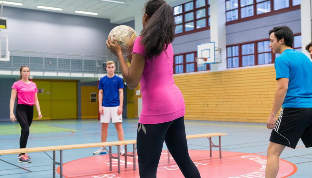 – Elever som ikke har bakgrunn fra idretten er i praksis fratatt muligheten til å kunne oppnå de høyeste karakterene i faget, sier forsker. (Illustrasjonsfoto: Thomas Brun / NTB scanpix)