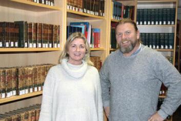 Gina Dahl og Bjørn-Arvid Bagge. (Foto: Marthe Njåstad)
