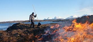 Å brenne kystlyngen gir mindre brannfare på sikt