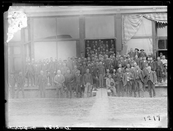Landsmøtet til The Populist Party i Columbus, Nebraska i 1890. Partiet representerte hardtarbeidende amerikanske bønders motstand mot eliten i byene, bankene og de industrielle fremskrittene. (Foto: The United States Library of Congress)