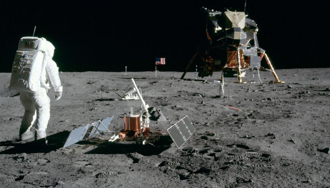 Reisen til månen var langt fra udramatisk. Erik Tandberg forteller hvordan amerikanerne til slutt greide å sende mennesker til månen. (Foto: NASA)