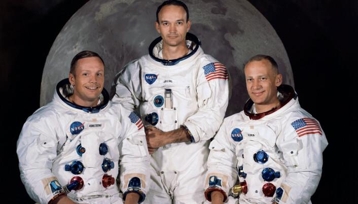 Her er gutta. Fra venstre: Armstrong, Collins og Aldrin. (Foto: NASA)